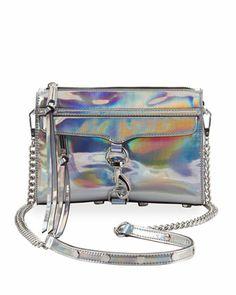 Rebecca Minkoff | Mini MAC PVC Crossbody Bag, Platinum - CUSP