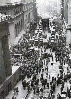 The beginning of the Great Depression, the stock market crash of 1929
