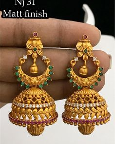 Ra matt finish set at Rs 850 with shipping Direct message to place order Shipping is extra the damage will… Gold Jhumka Earrings, Indian Jewelry Earrings, Silver Jewellery Indian, Jewelry Design Earrings, Gold Earrings Designs, Gold Jewellery Design, Antique Earrings, Bridal Earrings, Silver Jewelry