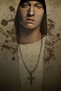 Julia Yellow - Artwork - Portrait of Eminem - Nucleus | Art Gallery and Store