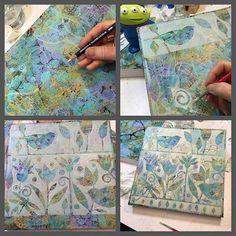 art #fortwayne #acrylicpainting #artist #painting #workinprogress #suedavis