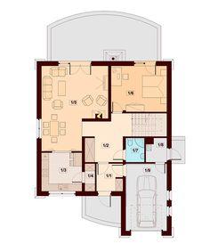 DOM.PL™ - Projekt domu DN Xara CE - DOM PC1-21 - gotowy koszt budowy Family House Plans, Dream House Plans, Small House Plans, Two Story House Design, House Front Design, Home Building Design, Building A House, Kerala House Design, Kerala Houses