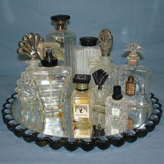 Antique Glassware | VINTAGE CRYSTAL CLEAR GLASS EMPTY PERFUME BOTTLE LOT - Vintage-Toys ...