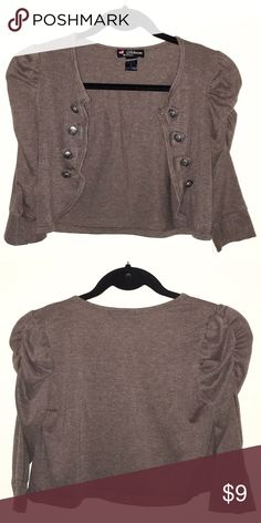 Brown shrug Made from 67% polyester, 29% rayon, 4% spandex. Make me an offer OR bundle at least 3 items for savings!! :) Tops Blouses