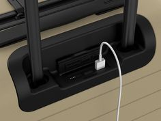 Away is promising to make #travel easier—one bag at a time. The charging port on Away's carry-on will juice your smartphone up five times before it needs another charge of its own. #gadget #luggage