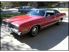 #2... 1972 Ford LTD Two Door Hardtop - this was my beat around car that I bought for $200 when I was 17. It was turd brown, painted it black with a orange racing stripes. Good times with friends ( Gary & Tork) in that car. Went to the junkyard and crushed years ago. We called it the Blues mobile..