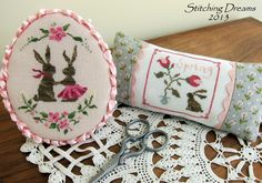 Stitcher: Carol  - Design: The Snowflower Diaries: Spring Bunny Love 2013 & Tulips With Bunny 2013