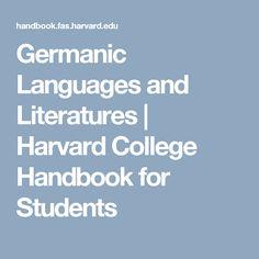 Germanic Languages and Literatures |  Harvard College Handbook for Students