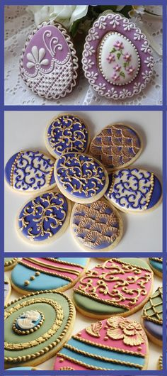 Easter Egg Cookies - beautiful decorating