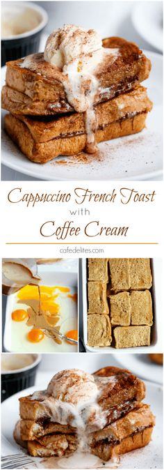 Cappuccino Chocolate French Toast with Coffee Cream | https://cafedelites.com