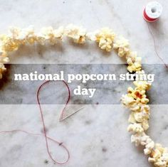 How To Make String Popcorn For The Christmas Tree -