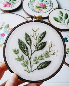 Caitlin from @cinderandhoney believes flowers should last a lifetime which is why she stitches them onto beautiful colorful hoop embroideries Id love to see up on my wall.. You can find her work shared on the blog today! At ArtisticMoods.com. #artistfeature #cinderandhoney by artisticmoods