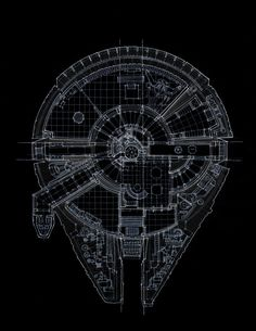 Incredibly Detailed Blueprints of Iconic 'Star Wars' Spaceships – The Roosevelts
