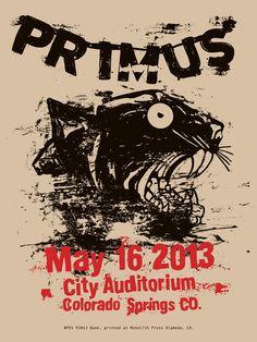 Bask Primus Colorado Springs 2013 Poster On Sale