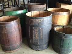 Some of the barrels we picked up on our buying trip to AL, GA, TN and KY. You cant have too many!