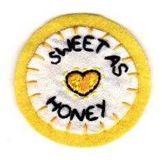 Sweet As Honey Patch by mittenfingerz on Etsy