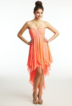 Prom Dresses 2013 - Chiffon Strapless Hi-Lo Hanky Dress from Camille La Vie and Group USA