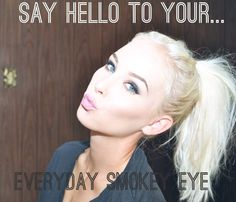 "lisey lu: everyday ""smokey eye"" tutorial with products to use"