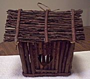 A twig bird house available at mama's treasures - front.