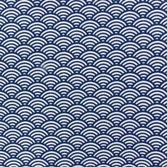 Tissu coton cretonne Suchis indigo x 10cm
