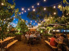 Outdoor Restaurant Patio, Rooftop Patio, Garden Cafe, Garden Route, Philadelphia, Lounge Bar, Beer Factory, Outdoor Dates, Pizza And Beer