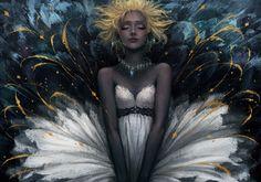 White dress by 須田 彩加