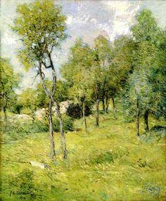 """""""Paysage d été"""", huile sur toile de Julian Alden Weir (1852-1919, United States)"""