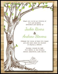 tree wedding invitations-  Tree wedding invitations - a quick introduction  A pedigree is a good way to keep records of your lineage. It is interesting that the cross, which w... Check more at http://marinagalleryfineart.com/6253/tree-wedding-invitations