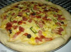 Pizza com borda recheada