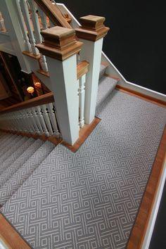 Stanton Vizio In Flannel Stair Runner Carpet Carpet Staircase   Stanton Carpet Stair Runners   Light Grey   Craftsman   Stairway   Leopard   Popular