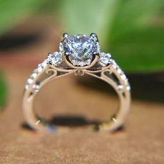 wanelo.com Round Diamond Engagement Ring - 1.16 carats - 14K white gold -  14K e9a8c5e0d1