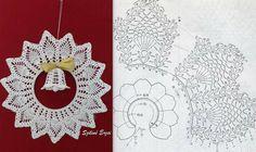 Ela Klementowicz's 860 media content and analytics - Her Crochet Crochet Christmas Decorations, Crochet Decoration, Crochet Ornaments, Christmas Crafts For Gifts, Christmas Angels, Christmas Tree Ornaments, Crochet Gifts, Diy Crochet, Crochet Doilies