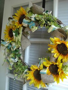 Sunflower Spring Wreath