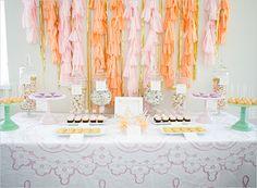 Girls' Day In | Rue Magazine | Tassel Backdrop | Dessert Table | Girls' Day In