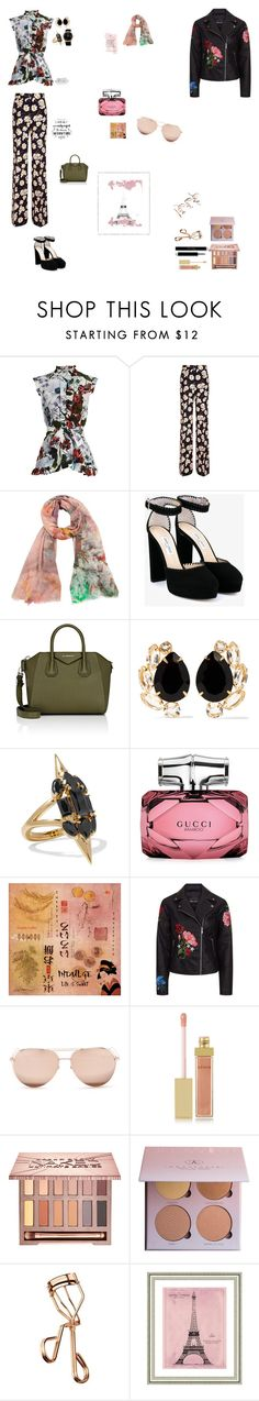"""""""prints"""" by ramdee ❤ liked on Polyvore featuring Erdem, Rochas, Tilo, Jimmy Choo, Givenchy, Bounkit, Noir Jewelry, Gucci, Linda Farrow and AERIN"""