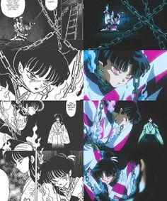 Inuyasha - Kagura realmente quería q ella fuera salvada ella no era una chica mala.