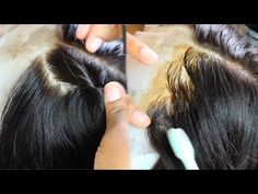 This Wig Look Like A Fresh Relaxer! How To Make Edges Look Natural ft. WowAfrican - YouTube