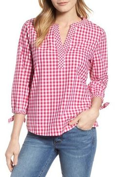 Product Image, so cute to see the outfit. Kurta Designs, Blouse Designs, Blouse Styles, Blouse Dress, Mode Style, Minimalist Fashion, Blouses For Women, Gingham, Korean Fashion