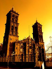 Pictured above is the Puebla Cathedral. Located in Puebla Mexico this Cathedral is the second largest in the country. Construction of the Cathedral began in 1575 but wasn't complete until 1690. This Cathedral is a Roman Catholic Cathedral and it is dedicated to the Virgin Mary.