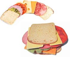 Sandwich Coasters, $6 | 24 Clever Kitchen Gifts For Your Favorite Twentysomething
