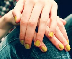 texturized nails by deborah lippmann at lela rose fall 2013 #yellow