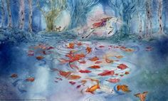 Luminous - Watercolor Illustrations by Stephanie Pui-Mun Law Cross Stitch Books, Cross Stitch Art, Cross Stitch Designs, Cross Stitching, Cross Stitch Patterns, Stitching Patterns, Nocturne, Watercolor Illustration, Watercolor Art