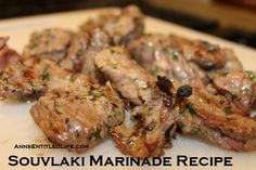 Souvlaki Marinade Recipe. Juicy pieces of succulent meat are the result when you use this easy to make, delicious and tasty Souvlaki Marinade Recipe.