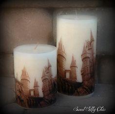 Hogwarts Photo Transfer Candle, Harry Potter Candle, Harry Potter Home Decor / Gift, Harry Potter Wedding Candle on Etsy, $16.00
