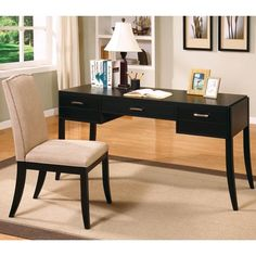 Jamesburg Contemporary Table Desk and Chair Set