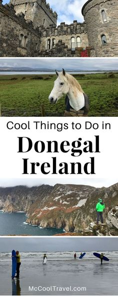 "Ireland travel. Donegal Ireland and Wild Atlantic Way. Cool things to do in Donegal Ireland span the rugged Wild Atlantic Way and explore unique hidden gems of ""the Coolest Place on Earth"". #Donegal #Ireland #EuropeTravel #travel"