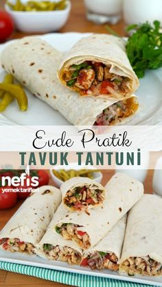 Tavuk Tantuni Yapımı (videolu) – Nefis Yemek Tarifleri – Tavuk tarifleri – The Most Practical and Easy Recipes Kefir Recipes, Cooking Recipes, Best Appetizers, Appetizer Recipes, Turkish Recipes, Ethnic Recipes, Logo Food, Iftar, Chicken Recipes