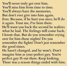 This is true in reverse. If she left she'll leave again.   Once you left the marriage.   If she raged she will rage again.  Like she did recently.   If she cheated on you she will cheat on you again.     Can't let back in.  Did for 7 years with more broken promises from her.     She promised no more rage. Since her corn to Jesus with self.     Anywho....I was fooled..the good thing is I was hurt bad .but I protected my kids.    My gut was correct about her.   She is a runner but calls it…