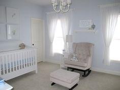 baby boy nursery White Nursery, Baby Nursery Decor, Project Nursery, Nursery Room, Girl Nursery, Nursery Ideas, Baby Boy Rooms, Baby Boy Nurseries, Baby Bedroom Furniture
