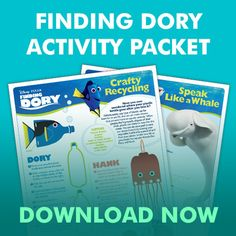 Free activities for kids to learn while having fun with Dory and her friends!